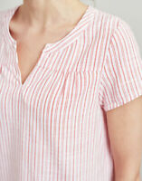 Joules Gemma Short Sleeve Top Red Stripe - Women's Size 8, 10, 12, 14, 18