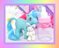 ❤️My Little Pony MLP G1 Vtg 1984 Mail Order BABY Blue Ember Green Eyes❤️