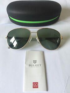 BULGET SUNGLASSES MODEL BG3143 COLOUR 04B MATT GOLD, GREEN POLAR LENSES