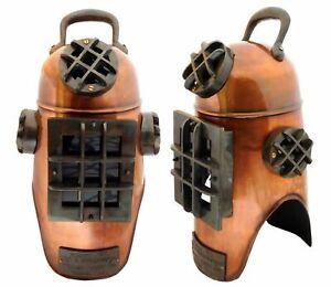 """Vintage Antique Copper Scuba Divers Diving Morse Diving Helmet Decor 20"""" design"""