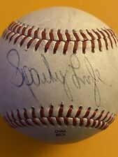 Sparky Lyle Game Used autograph baseball Atlantic League Somerset Patriots