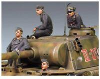 "1/35 Resin Figures Model Kit WW2 German ""Panther"" Crew (4 Figures NO Tank)"