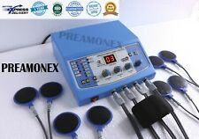 New Physical Therapy 4 Channel Blue Electro therapy Advanced Equipment TR