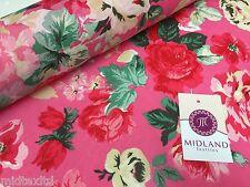 Bold Floral 100% Cotton Lawn Dress fabric 58inch wide- Per metre -M271 Mtex