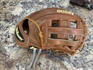 "RARE! Wilson A2000 SP125 Baseball Softball Glove 12.5"" Tan"