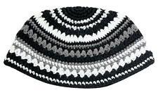 Huge Jewish Kippa Crochet Frik Striped Hat Yarmulke Knitted Tribal Jewish Yamaka