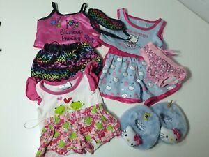 Cute build a bear bundle pjs pyjamas sleepover , slippers, eye mask