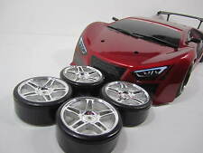 1x brand new painted Bodies for 1/10 sacle on-roAD rc car SUPER RED & 4x rims