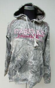 Ladies Cabela's Seclusion 3D Pink Hunting camouflage hooded sweatshirt Medium