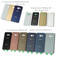 OEM Back Battery Glass Cover Back Door For Samsung Galaxy S6 S7 Edge S8 S8+ Plus