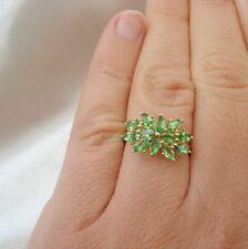 1.71ct Certified Tsavorite Garnet Cluster Ring