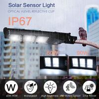 120/180 LED Solar Street Light 60/90W PIR Motion Sensor Outdoor Wall Lamp+Remote