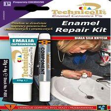 PROFESSIONAL ENAMEL REPAIR KIT Bath Sink Shower Tray CHIP WHITE Ceramic Acrylic