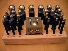 24 bouterolles acier + dé carré - fabrication bijoux, outils de bijoutier