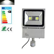 100W Kaltweiß LED Fluter mit Bewegungsmelder Außen Flutlicht 2 LEDs Lampe IP65