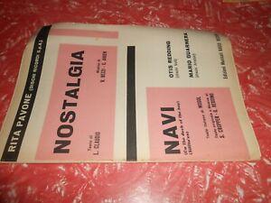spartiti musicali vintage-NOSTALGIA RITA PAVONE NAVI GUARNER ED.MUS.RADIO RECORD