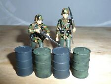 1/32 SCALE SOLID RESIN  OIL DRUMS HAND PAINTED FOR SCENICS & DIORAMAS 4 PACK