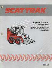SCAT TRAK SKID STEER IMPULSE HAMMER OPERATOR/PARTS MANUAL