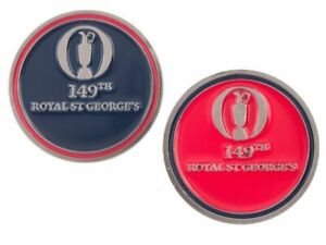 2021 OFFICIAL (Royal St Georges) British Open Two Sided (Navy/Red) BALL MARKER