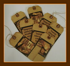 JOHN WAYNE QUOTES - PRIMITIVE HANG TAGS - SET OF EIGHT, VINTAGE STYLE