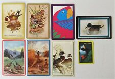 Lot of 8 Different Bird Swap Playing Cards