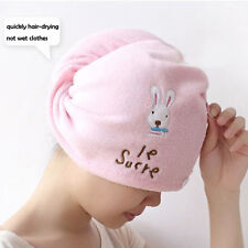 Super Absorbent  Hair Drying Towel Hat Cap Head Wrap Quick Dry Bath Shower Cap
