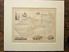 1853 Tibet Mongolia Manchuria Map Rapkin Tallis Himalaya Great Wall China Lhasa