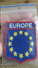 EUROPE Sew on Embroidered Patch Badge *un-used*