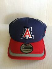 Arizona Wildcats New Era 39Thirty Stripe Stretch fit hatM/L Navy/Red