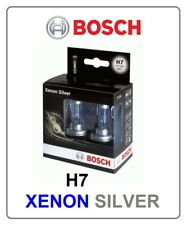 2x H7 XENON SILVER Bosch 55W 12V halogen light Headlight white car automotive