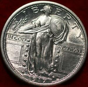 Uncirculated 1917 Type I Philadelphia Mint Silver Standing Liberty Quarter