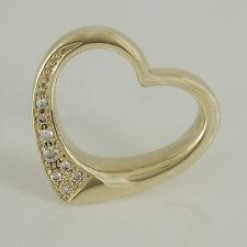 Anhänger Herz in 585 Gelbgold 14K mit 8 Diamanten  ca 0,15 ct Wesselton vsi
