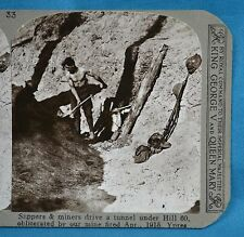 WW1 Stereoview Sappers & Miners Tunnel Under Hill 60 Ypres 1915 Realistic Travel