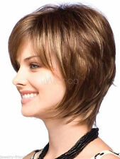 CHWG10334 short mix brown straight hair wig Natural BOB wig wig women wigs