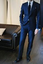 Navy Blue Wedding Mens Suits Groom Groomsmen Tuxedo Formal Party Business Suit