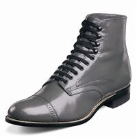 Stacy Adams Mens Madison Gray Leather Dress Trending Ankle Medium and Wide Boot