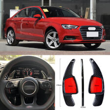 Carbon Fiber Gear DSG Steering Wheel Paddle Shifter Cover Fit For Audi A3 17-18