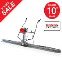 Power Screed Float 10 ft Blade Gas 1.8HP Honda Vibrating Concrete Finishing Tool