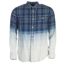 Barbour Chemise Bleu Indigo Délavé Carreaux Coton Taille M Tr 284