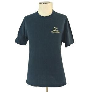 Ducks Unlimited duck call t-shirt men's large black short sleeve cotton