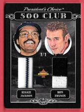 2020 Reggie Jackson - Ron Francis President's Choice Solitaire 1/1 Dual Jersey