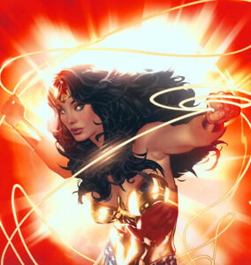 Adam Hughes LE SDCC SIGNED DC Comics JLA Art Print Wonder Woman Strength #79/150