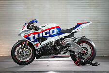Racing style White Blue Fairing Bodywork Injection Kits For BMW S1000RR 2015-UP