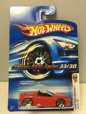2006 Hot Wheels First Editions Red Ferrari F430 Spider ERROR BLINGS WHEEL