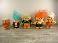 Rare DAM TROLL Dolls Vintage 1965 Doll Denmark Piggy Bank Lot Big Ears Antique