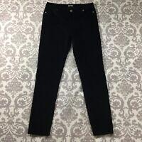 Buffalo David Bitton Womens Jeans sz 10 Black Slim Skinny Cotton Stretch Velvet