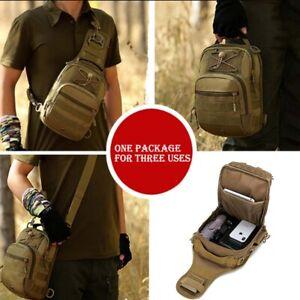 Men Backpack  Tactical Sling Chest Pack Shoulder Bag Outdoor Hiking Travel USA
