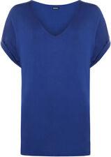 Magliette da donna a manica corta con scollo a v, taglia 46