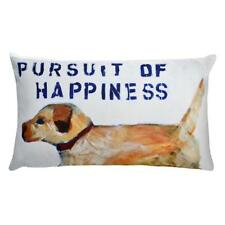 """Pursuit of Happiness"" Custom Decorative American Dog Pillow by Michelle Rivera"