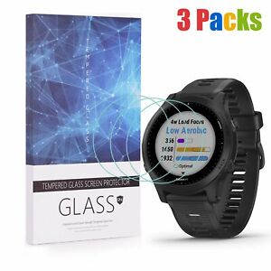 For Garmin Forerunner 945 Tempered Glass Screen Protector 9H Hardness (3 Packs)